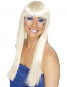 Perruque blonde longue rétro femme