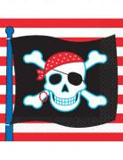 Vous aimerez aussi : 16 Serviettes en papier drapeau pirate 33 x 33 cm