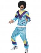 Déguisement jogging bleu années 80 adulte