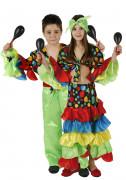 Déguisement couple danseur et danseuse de rumba  enfants