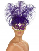 Vous aimerez aussi : Loup vénitien violet avec plumes violettes adulte