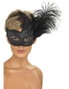 Vous aimerez aussi : Loup noir avec paillettes argentées et plumes adulte