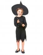 Déguisement noir de sorcière fille Halloween