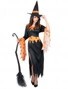 Vous aimerez aussi : Déguisement sorcière orange et noire femme Halloween