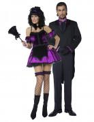 Déguisements de couple de maître d'hotêl et soubrette gothique Halloween