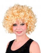Perruque rétro bouclée blonde femme