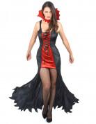Déguisement vampire femme rouge et noir Halloween