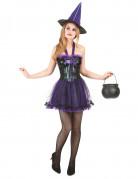 Vous aimerez aussi : Déguisement sorcière violette femme halloween