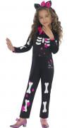 Déguisement Hello Kitty™ squelette pour fille