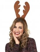 Serre tête renne à grelots Noël