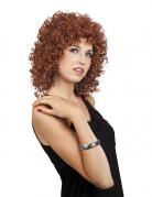 Perruque glamour bouclée marron femme