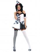 Vous aimerez aussi : Déguisement arlequin noir et blanc sexy femme