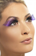 Faux cils XL noirs et violets adulte
