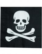12 Serviettes en papier Tête de mort 33 x 33 cm