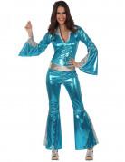 Vous aimerez aussi : Déguisement disco bleu brillant femme