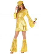 Vous aimerez aussi : Déguisement disco doré à paillettes femme