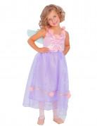 Déguisement fée ailée violette et rose fille