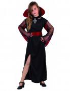 Déguisement vampire classique noir et rouge fille