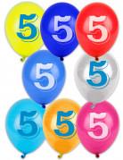 Vous aimerez aussi : 8 Ballons chiffre 5 multicolores 30 cm