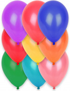 12 Ballons biodégradables multicolores 28 cm