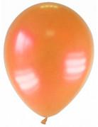 12 Ballons métallisés orange 28 cm
