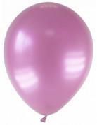 12 Ballons métallisés roses 28 cm
