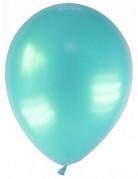 12 Ballons métallisés vert d'eau 28 cm