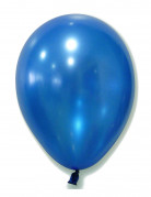 100 Ballons bleu métallisé 29 cm