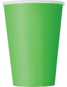 10 Gobelets en carton vert citron