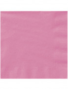 20 Serviettes en papier roses 33 x 33 cm
