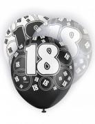 Vous aimerez aussi : 6 Ballons latex gris noirs et blancs 18 ans