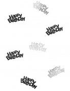 Vous aimerez aussi : Confettis gris/noir Happy Birthday