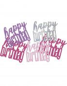 Vous aimerez aussi : Confettis rose/gris Happy Birthday