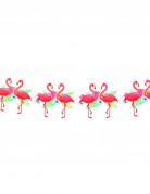 Guirlande flamant rose Hawaï cartonnée