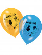 6 Ballons imprimés Barbapapa™ assortis
