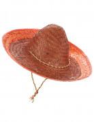 Sombrero mexicain orange adulte