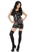 Robe sequins toile d'araignée femme