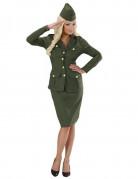 Déguisement soldat vert femme