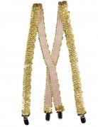Vous aimerez aussi : Bretelles dorées à sequins adulte