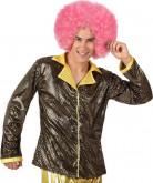 Veste disco dorée brillante homme