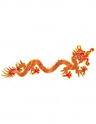 Décoration murale dragon rouge et or Nouvel an Chinois