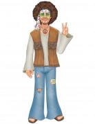 Figurine géante en carton homme hippie 94 cm
