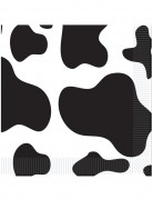 16 Serviettes en papier Peau de vache 33 x 33 cm