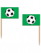 12 Pics en bois football verts 6,35 cm