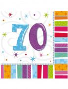 Vous aimerez aussi : 16 Serviettes en papier 70 ans 33 x 33 cm