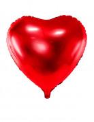 Ballon aluminium coeur rouge 45  cm