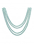 4 colliers verts metalisés