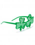 Lunettes humoristiques trèfles verts Saint-Patrick