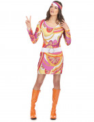 Vous aimerez aussi : Déguisement hippie rose et orange femme