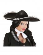 Sombrero noir mexicain adulte